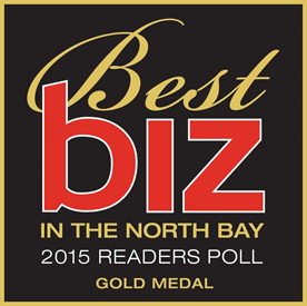 Best biz in the North Bay 2015 Gold Medal